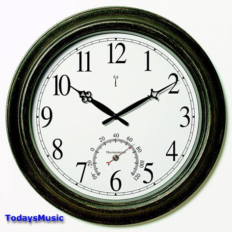50308 balmoral 18 pool patio outdoor atomic wall clock for Garden treasures pool clock
