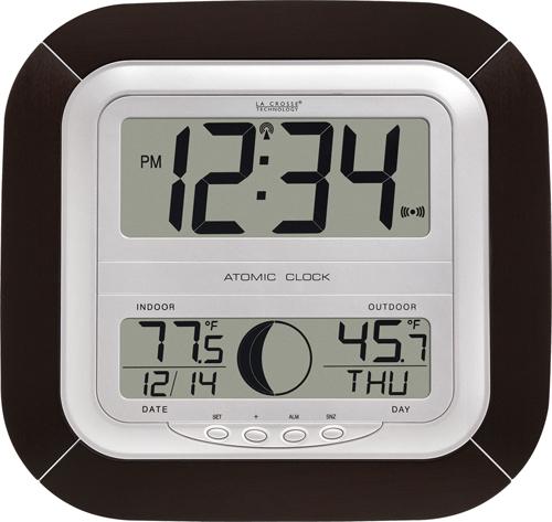 ws 8418u digital atomic wall clock by lacrosse technology